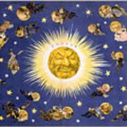 New York's New Solar System Vintage Poster 1898 Art Print