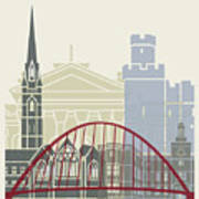 Newcastle Skyline Poster Art Print