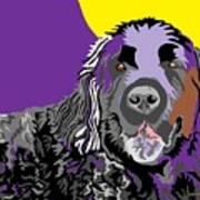 Newfie Bear Art Print