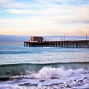 Newport Beach Ca Pier At Sunrise Art Print by Paul Velgos