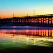 Newport Beach Pier At Sunrise Art Print