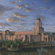 Newport Beach Temple Art Print by Jeff Brimley