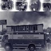 Newport Oregon Fire Department Drill - Practice Fire Drills Art Print