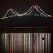 Newport Pell Bridge Art Print