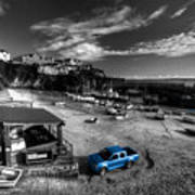Newquay Harbour  Pickup  Art Print