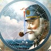News  Map Captain  Or  Sea Captain Art Print