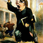 Newsboy Shouting, 1847 Art Print
