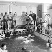 Newsboys Swimming 1900s Art Print
