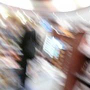 Newstand Blur Art Print