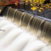 Newton Upper Falls Autumn Waterfall Art Print