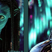 Neytiri - Gently Cross Your Eyes And Focus On The Middle Image Art Print