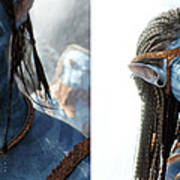 Neytiri And Jake - Gently Cross Your Eyes And Focus On The Middle Image Art Print