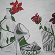 Nfl Eagles Stiletto Art Print