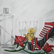 Nfl Falcons Stiletto Art Print