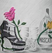 Nfl Raiders Stiletto Art Print