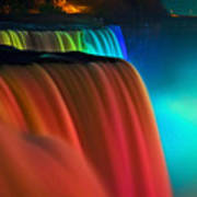 Niagara Falls At Night Art Print