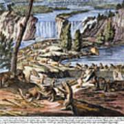 Niagara Falls: Beavers, 1715 Art Print