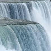 Niagara Falls Closeup Charcoal Effect Art Print