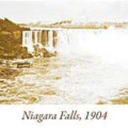 Niagara Falls Ferry Boat, 1904, Vintage Photograph Art Print
