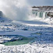 Niagara Falls Frozen  II Art Print
