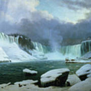 Niagara Falls Art Print by Hippolyte Victor Valentin Sebron