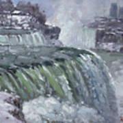 Niagara Falls In Winter  Art Print