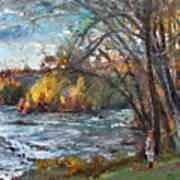 Niagara Falls Lake Art Print