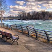 Niagara Rapids In Early Spring Art Print