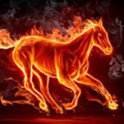 Nice Horse 3d Art Print