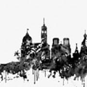 Nice Skyline-black Art Print