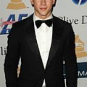 Nick Jonas In Attendance For Clive Art Print by Everett