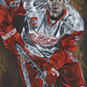 Nicklas Lidstrom Print by David Courson
