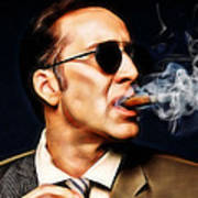 Nicolas Cage Collection Art Print