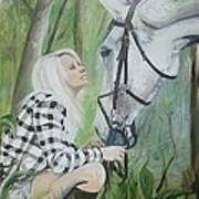 Nicole And Cellie Print by Isabella F Abbie Shores FRSA