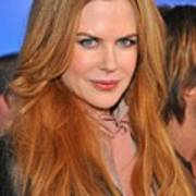 Nicole Kidman At Arrivals For Just Go Art Print