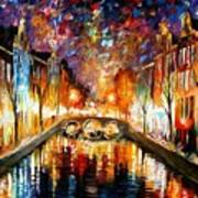 Night Amsterdam Art Print