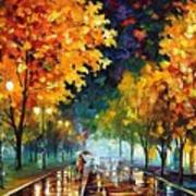 Night Autumn Park  Art Print