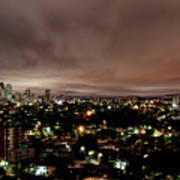 Night Cityscape Print by People are strange by Patricia Kroger