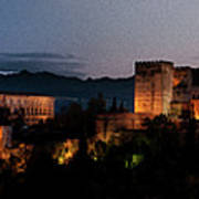 Night Comes To The Alhambra Art Print