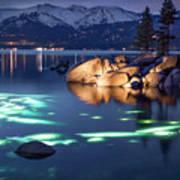 Night Dive - Lake Tahoe Art Print