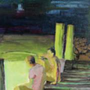 Night Fishing Art Print