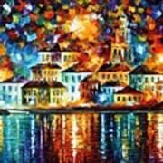 Night Harbor Art Print