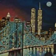 Night In Manhattan Art Print