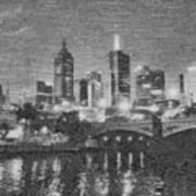 Night Landscape In Melbourne Art Print
