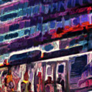Night Lights Of London Art Print