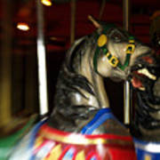 Night Mares At The Central Park Carousel 3 Art Print