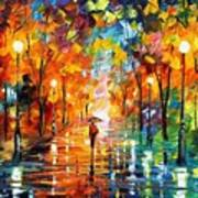 Night Mood In The Park Art Print