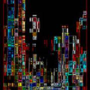 Night On The Town - Digital Art Art Print by Carol Groenen