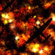 Night Raid - Lancaster Bomber Art Print