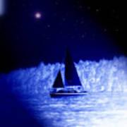 Night Sail Art Print
